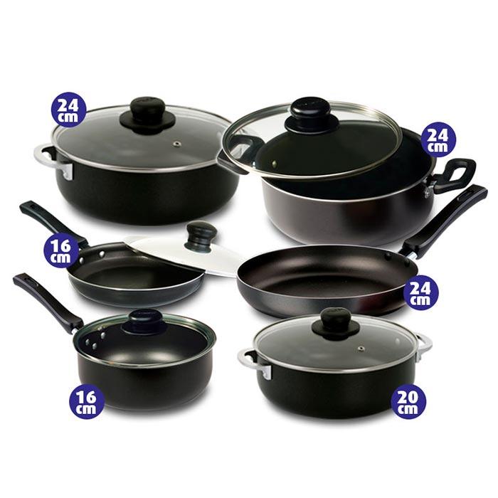 Kombo universal bater a de ollas 7 piezas set de - Ollas de cocina ...